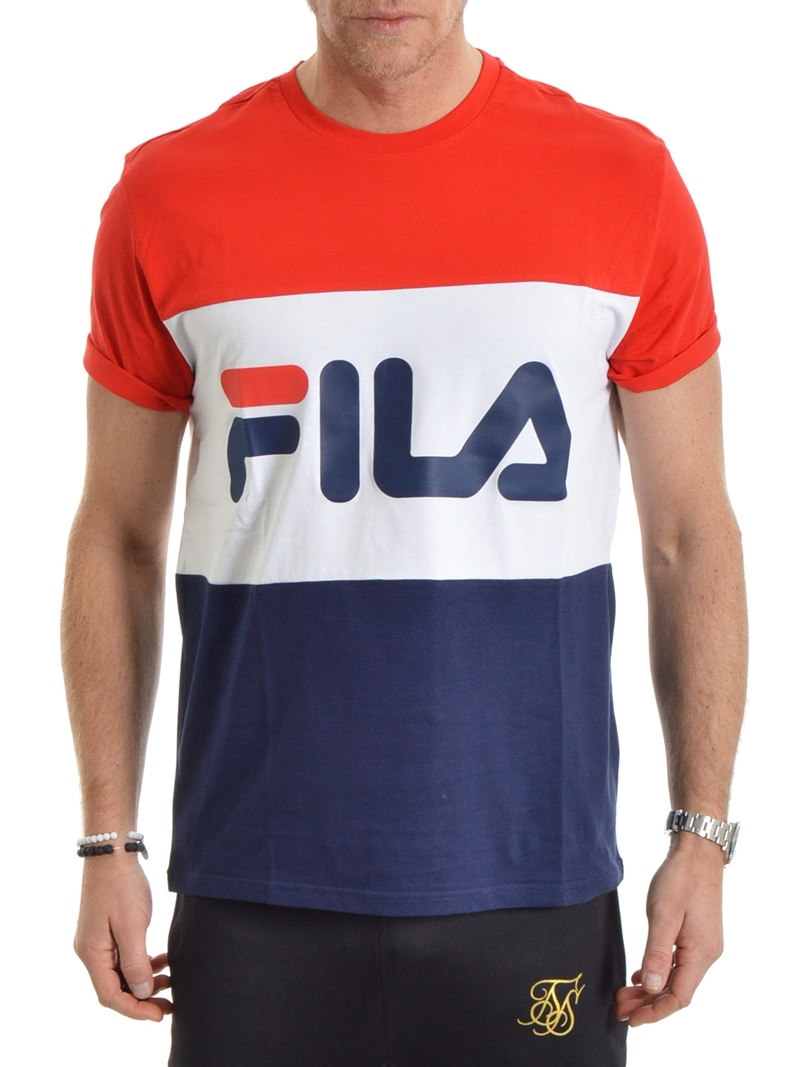 FILA Day Tee Red/Navy/White L